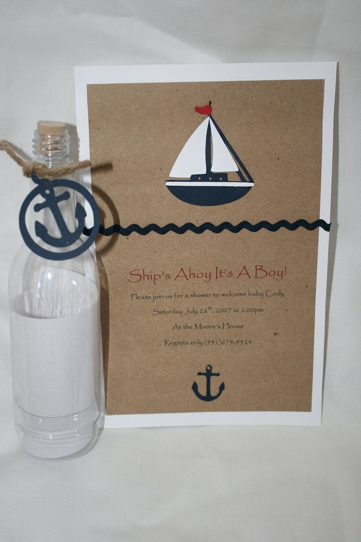 Sailboat shower Invitations. $36.00, via Etsy.