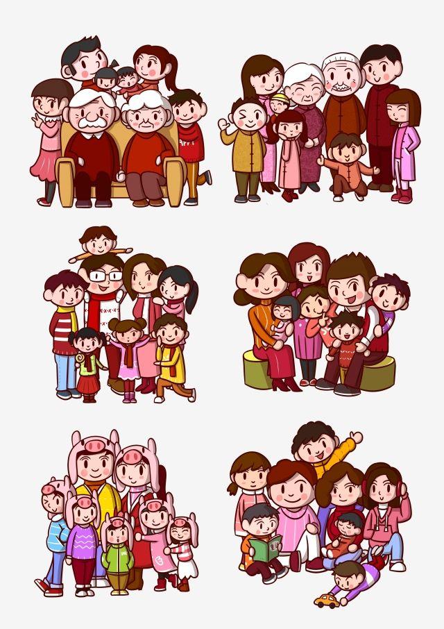 رسوم متحركة صورة العائلة عائلة رجل عجوز عائلة الآباء طفل Png وملف Psd للتحميل مجانا การ ต น การออกแบบปกหน งส อ ภาพครอบคร ว