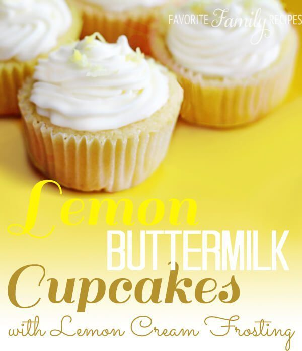 These Lemon Buttermilk Cupcakes with Lemon Cream Frosting taste like cupcakes you would buy at an expensive cupcake shop. Creamy lemon flavor in every bite!  These Lemon Buttermilk Cupcakes with Lemo