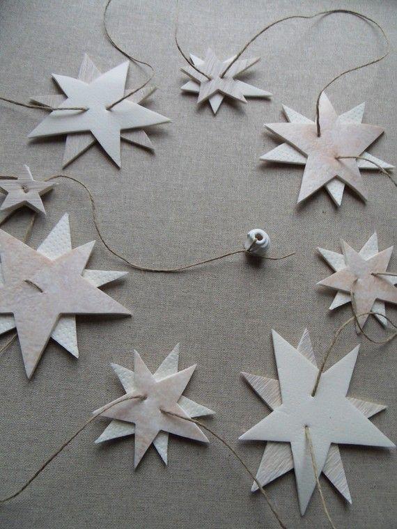 décoration de noêl guirlande 2 m d'étoiles glaçons pour sapin chic (FOUX-ELLE, a little market)