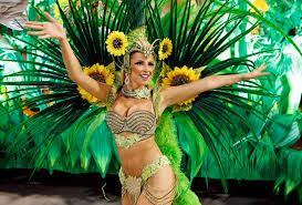 Costumes used in Rio´s carnival