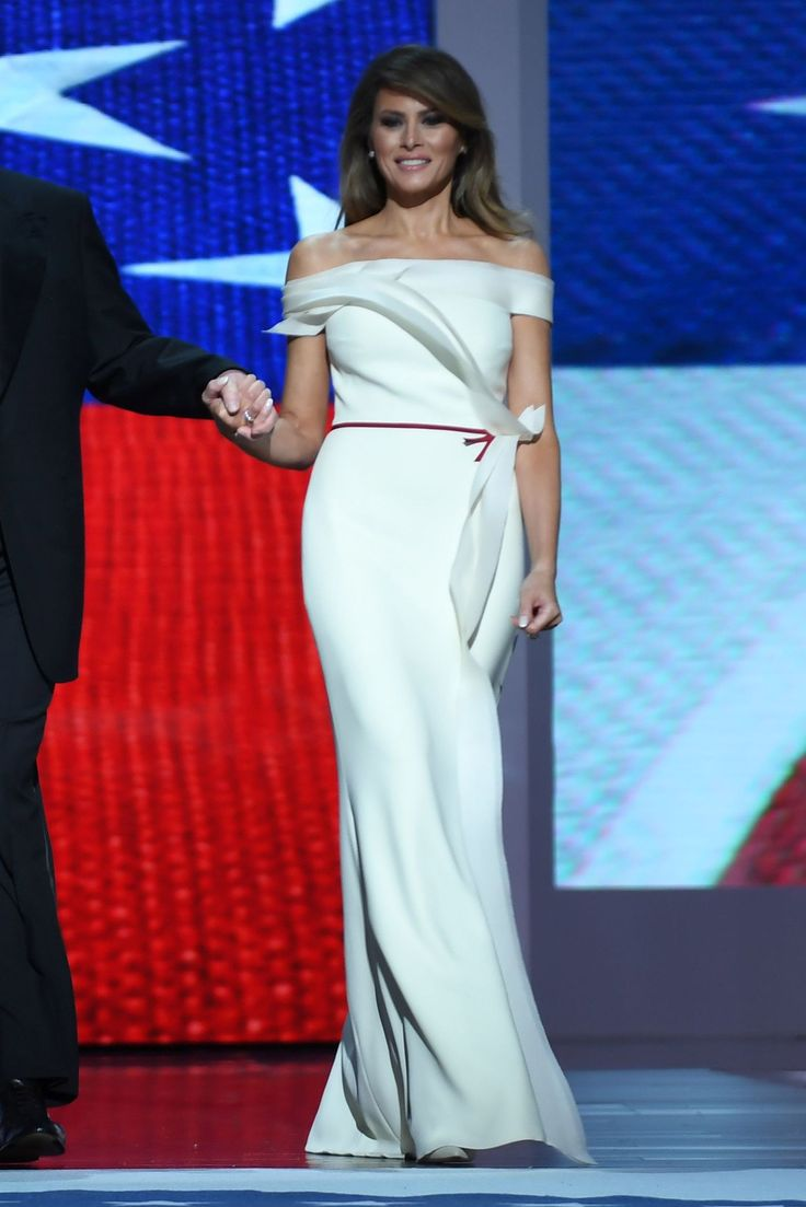 First Lady Melania Trump Co-Designed Her Inauguration Ball Dress