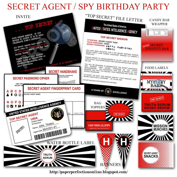 24 best images about Spy party – Spy Party Invitation