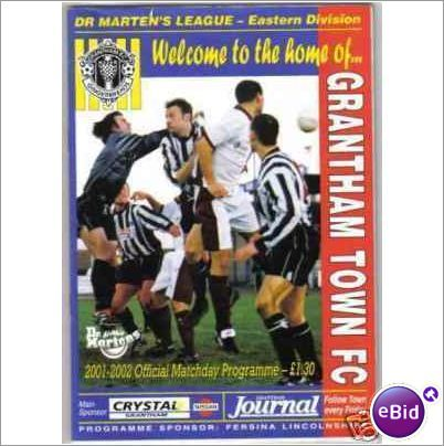 Grantham Town v Canvey Island 02/02/2002 FA Trophy Non League Football Programme