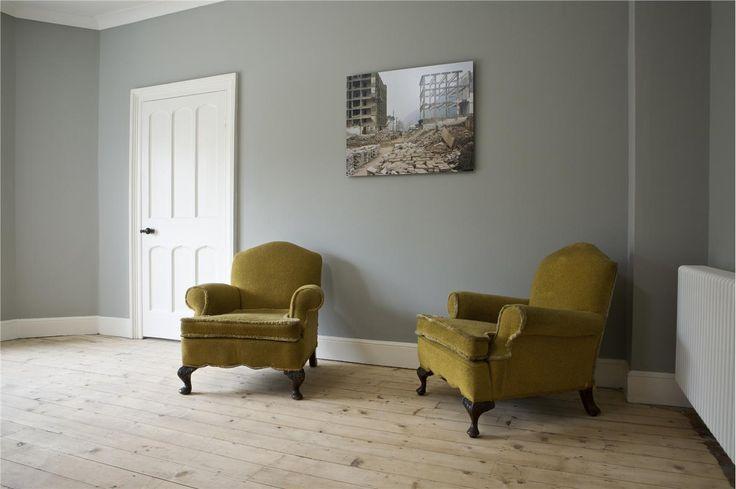 Farrow & Ball, lamp room gray and wimborne white