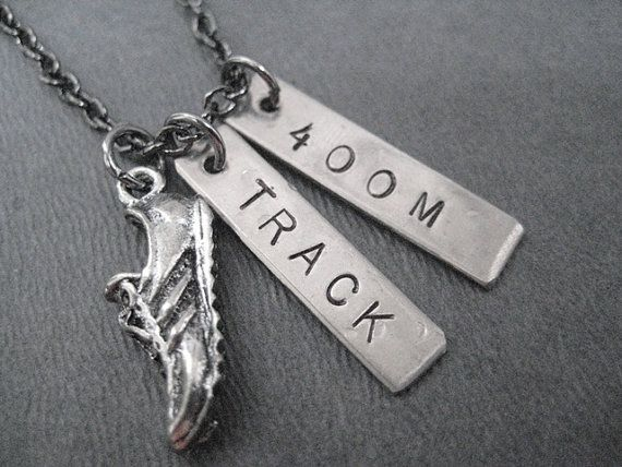 RUN TRACK 400 METER Necklace  Running Necklace on 18 by TheRunHome