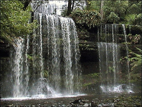 Russell Falls, Tasmania  Also took a pic like this.