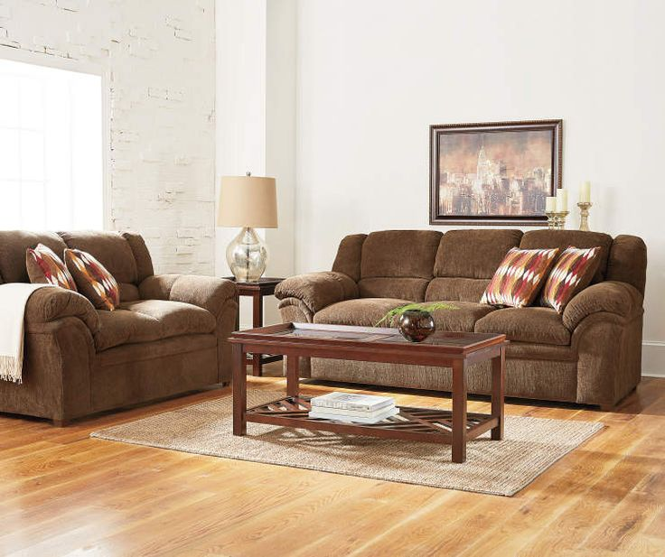 Best Simmons Verona Chocolate Chenille Living Room Furniture 400 x 300