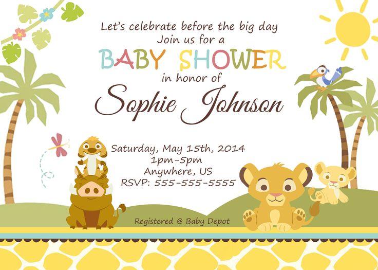 Simba Lion King Baby Shower Invitation $8.99 Available At  Www.partyexpressinvitations.com