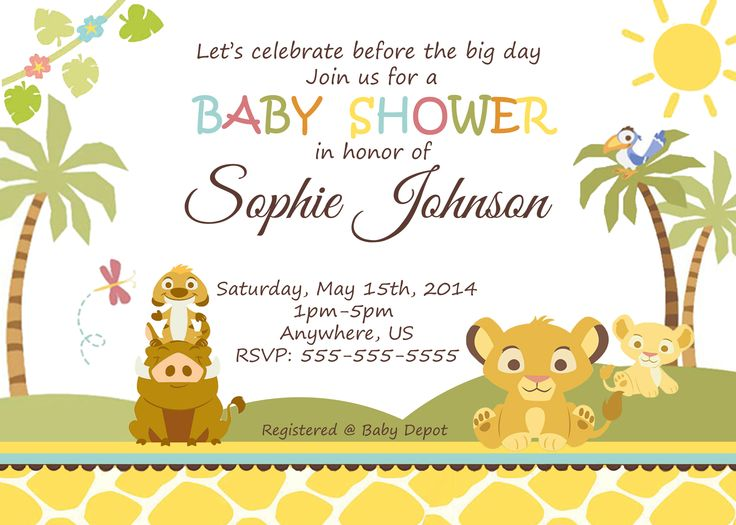 123 best images about simba lion king baby shower invitation and, Baby shower invitations