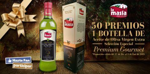 LA MASÍA sortea 50 PREMIOS de 1 Botella de Aceite de Oliva Virgen Extra Excelencia La Masía Selección Especial Premium Gourmet