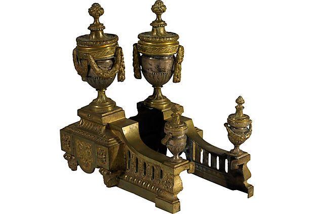 English Brass Andirons, Pair on OneKingsLane.com