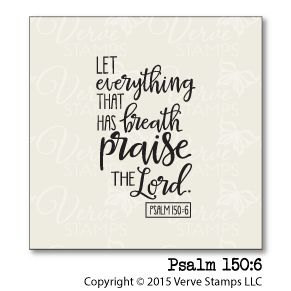 Psalm 150:6 Plain Jane from Verve Stamps. #vervestamps | Bible journaling, faith stamping