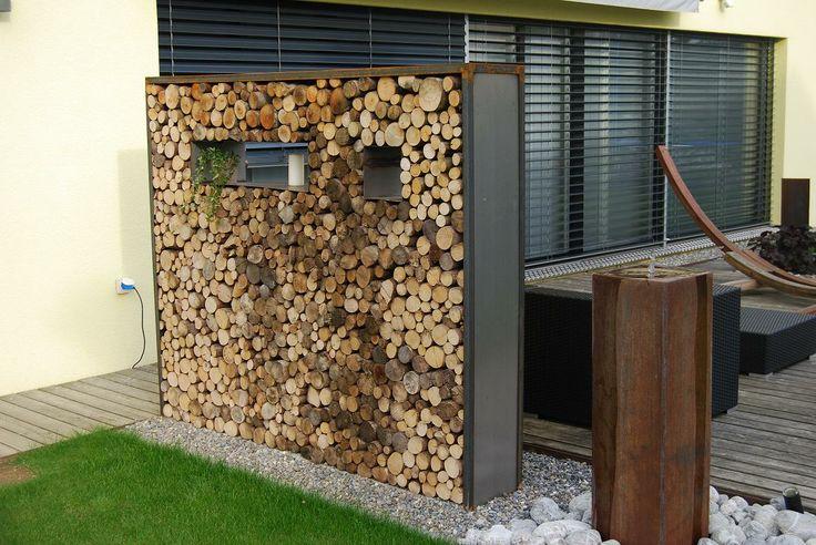 Wood Core Wall Possible Wind Break Garden Ideas
