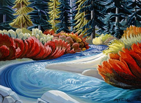River Rapids  Donald Flather | I love his work so much!!
