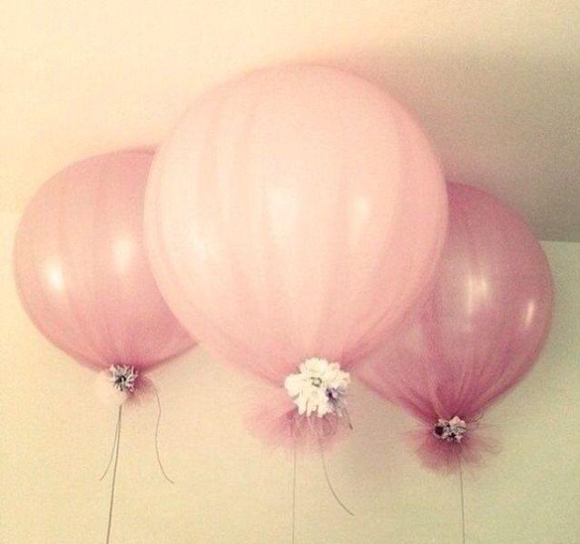 Luftballone mit Tüll