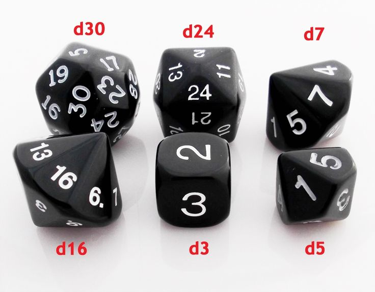 D3, D5, D7, D16, D24, D30 | RPG Role Playing Game Dice Set