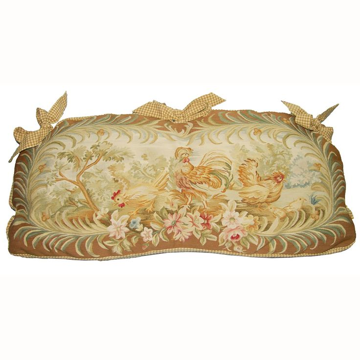 """<p>Product Dimension:21""""X43""""</p> <p>Hand woven aubusson cushion filled with down and feather insert. Cushion fits Provence Bench or Elise Bench.(Sold separately)</p>"""