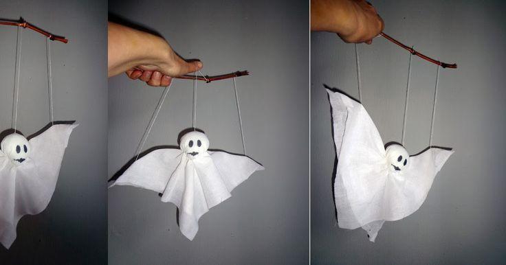 Zelf een marionet spookje maken, DIY.
