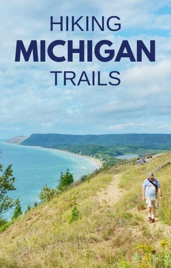 For the best hiking trails in Michigan, here's a map for vacation planning ideas for a midwest road trip in Michigan from Detroit or Chicago with the Great Lakes and Lake Superior! Beautiful places in northern Michigan and upper peninsula with national parks and state parks for summer fun with nature for kids and families! USA travel bucket list destinations and things to do in Michigan, like walks, hikes, mountain biking, kayaking, camping, and outdoors adventures on lakes and rivers!