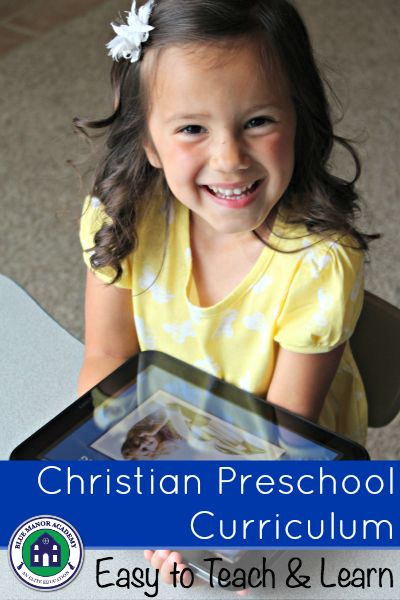 Christian Preschool Curriculum Covers a full range of subjects including anatomy, character development, bible and more. My preschooler loves it!