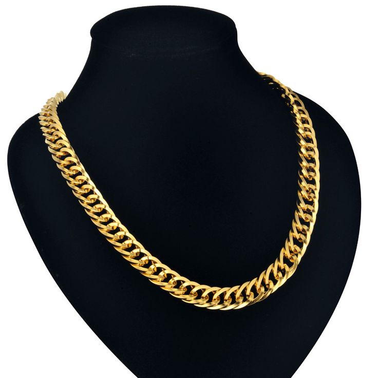 Cuban Gold Chains 9MM Mens Gold Chain Necklace 55/76CM Hiphop Vintage Long Necklace Wholesale Gold Color Big Men Jewelry