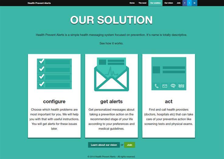 Website design - inner page