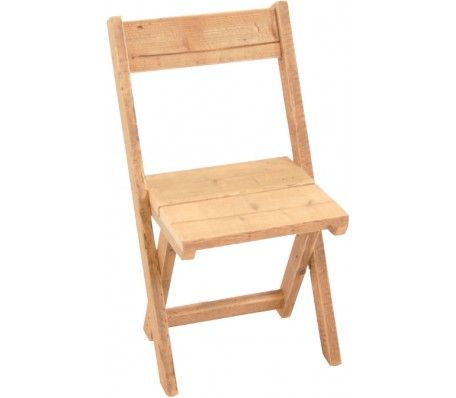 Steigerhouten kruispootstoel vervaardigd uit gebruikt steigerhout. De stoel heeft een afmeting van 39 x 39 x 90.