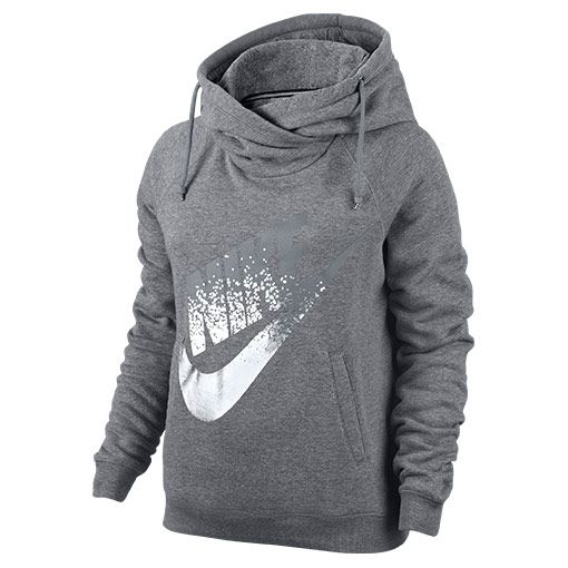 Women's Nike Rally Funnel Metal Hoodie - 684135 091 | Finish Line