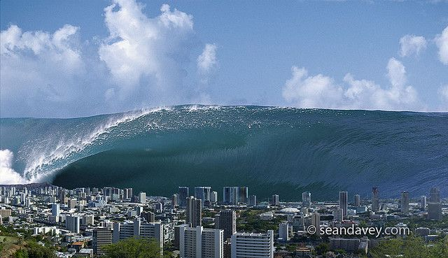 Tidal Wave over Honolulu