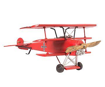 Adorno Avião Red Baron - 38cm