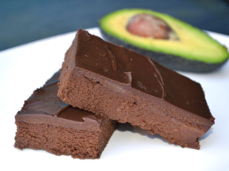 Chokoladebrownies med avocado og chokoladecreme