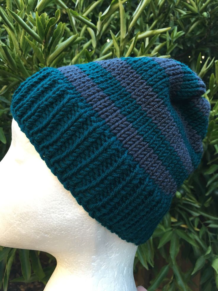 A personal favourite from my Etsy shop https://www.etsy.com/au/listing/598692985/handmade-knitted-grey-beanie-grey-green