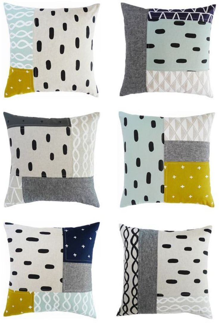 colorful geometric pattern patchwork pillow itself sew