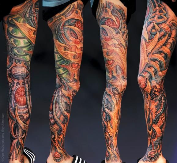 Guy Aitchison : Tattoos : Collaborative : Hiro, Collaboration by DonMcDonald and Guy Aitchison