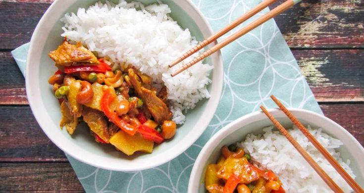 Curry-met-ananas-en-cashewnoten