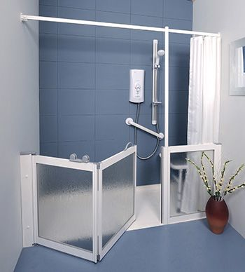 Contour Corner Access WF5 | White | Half Height Shower Doors Screens & 36 best Half Height Shower Doors for disabled carer assistance ...