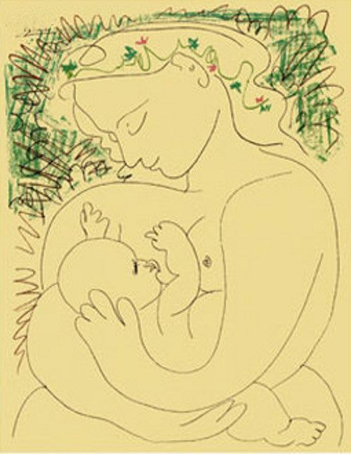 Picasso's breastfeeding art- pretty sure it wasn't marketed as porn!