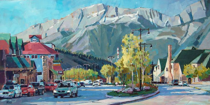 Curve on Connaught, Jasper, Alberta, Main Street, Train Station, Available at Mountain Galleries