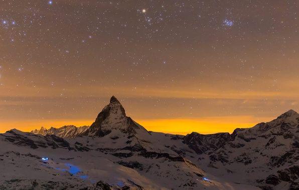 Фото обои гора, Швейцария, Альпы, Маттерхорн