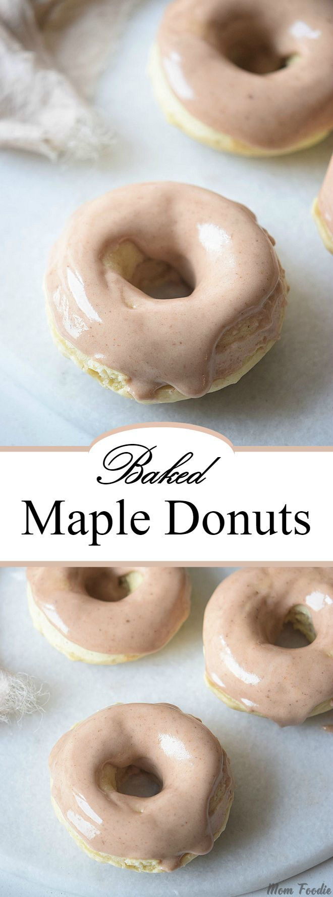 Baked Maple Donuts Recipe with Maple Glaze