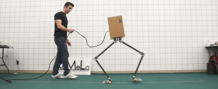 Today in Robot News: This adorable robot goes through goes through life, a little sideways:)