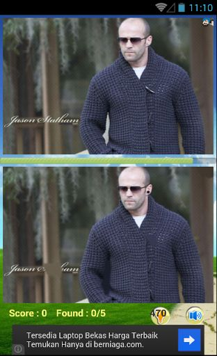 The Jason Statham Find Games to train your smart brain. There are many different pictures angle of Jason Statham Find Games for awesome fans like you. So, it's a very great find different game for everyone that love Jason Statham. If you are fans of Jason Statham, then this game is just for you.<p><br>Biography:<br>=======<br>Jason Statham has done quite a lot in a short time. He has been a Diver on the British National Diving Team and finished 12th in the World Championships in 1992. He has…