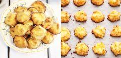 kokosmakronen  30 stuks  15 stukjes ouwel (eetbaar papier) of 2 grote vellen    190 g suiker    190 g geraspte kokos    3 eieren    ¼ tl zout    1 el custardpoeder    Bereiding kokosmakronen  Leg de ouwel op een bakplaat en verwarm de oven voor op 200°C (gewone elektrische stand) Vermeng alle ingrediënten en schep er kleine bergjes van op de ouwel. Bak de makronen in 13-16 min. goudbruin. Laat ze afkoelen en breek de ouwel rondom de makronen af.