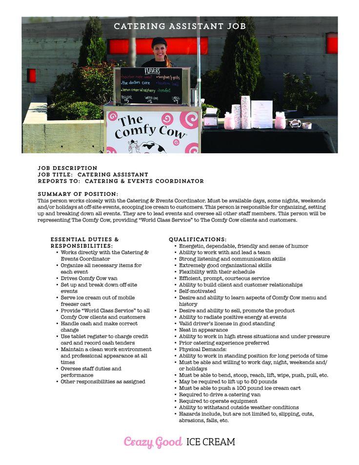 Catering Job Description for Resume Proper Job Posting