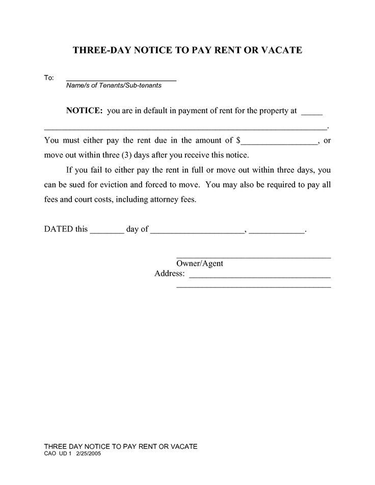 sample 30 day notice to landlord free move out examples