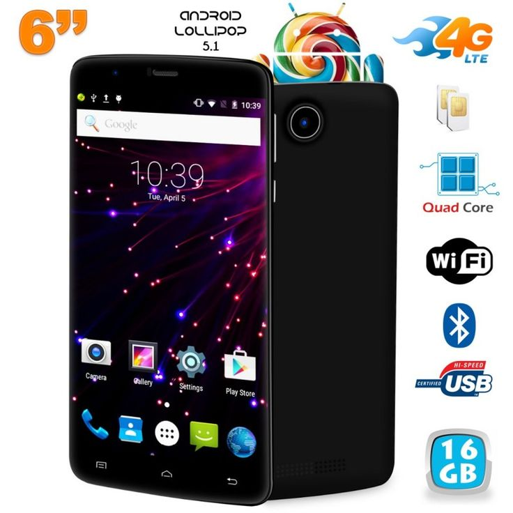 d couvrez ce smartphone 6 pouces 4g fonctionnant sous android 5 1 lollipop quip d 39 un. Black Bedroom Furniture Sets. Home Design Ideas