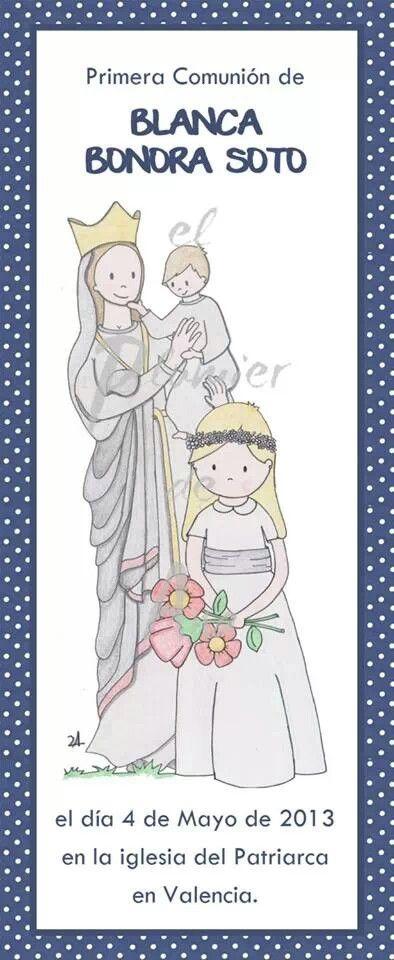 Blanca regalando flores a Nuestra Señora Blanca de las Nieves