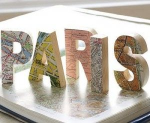 """map letters - how cute would it be to have """"Italy"""" somewhere in the house?"""