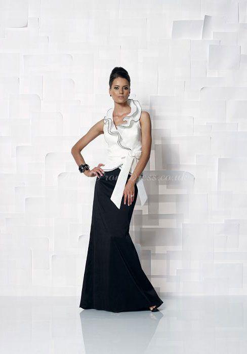 black & white dress #mother #bride #dress